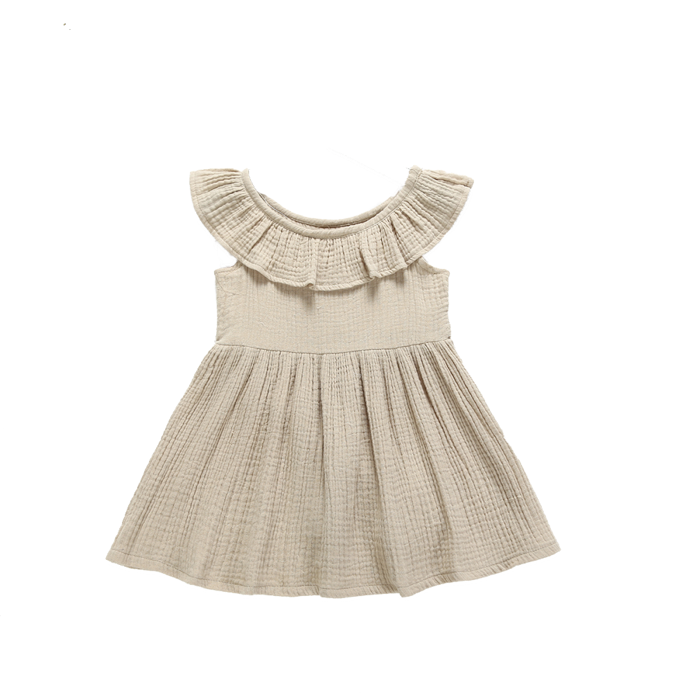 Ecru Ruffled Dress