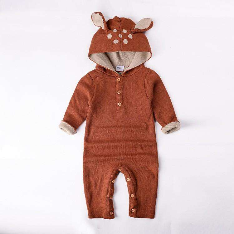 Knitted Fawn Jumpsuit