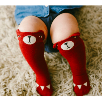 Bear Socks - Red