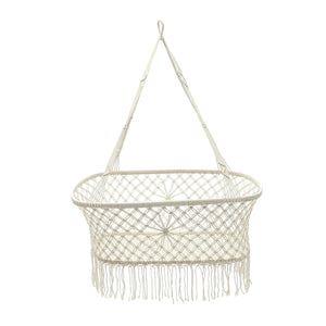 Handmade Hanging Macrame Cotton Crib