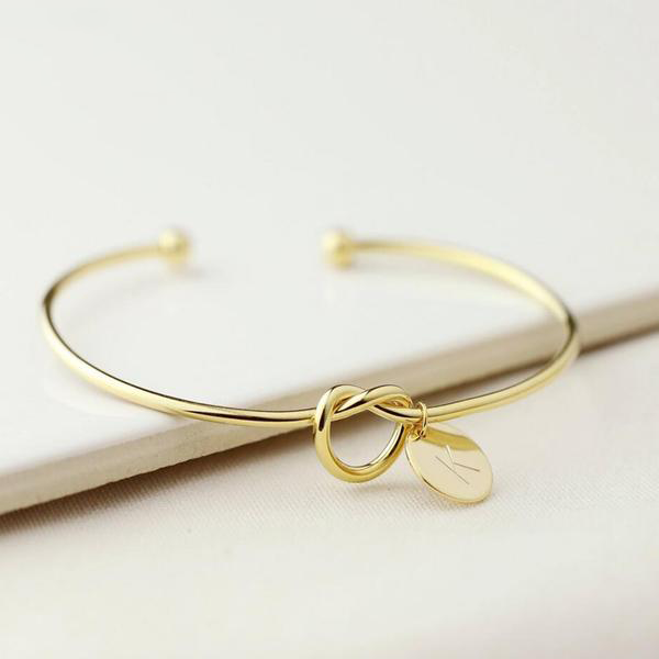 Initial bangle - Gold