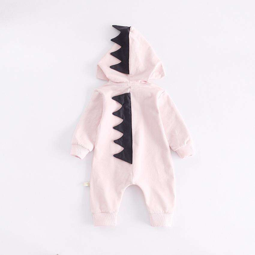 Baby Dino Jumpsuit/Romper  - Pale Pink