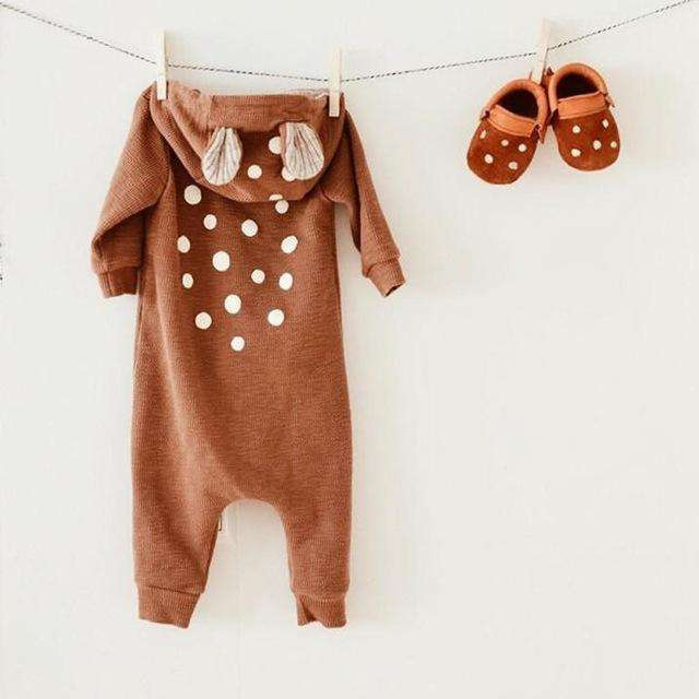 Fawn Jumpsuit w/ Hoodie