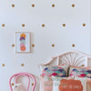 Removable Polka Dots Wall Stickers - Gold