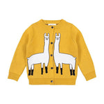 Alpaca Knitted Cardigan - Yellow