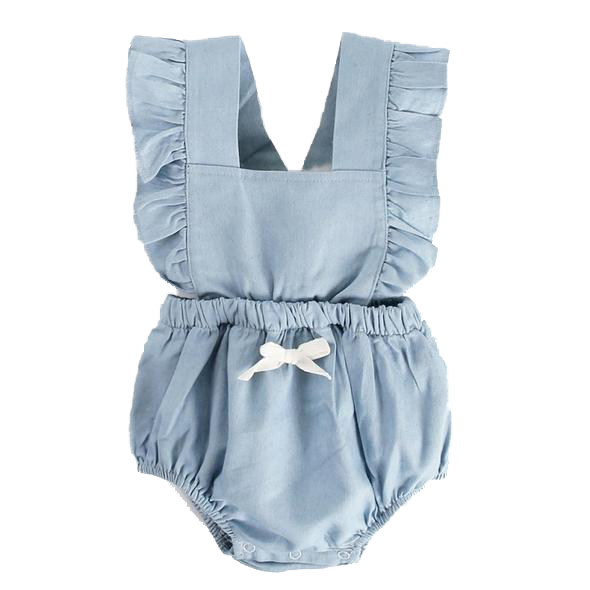 Ruffled Blue Romper