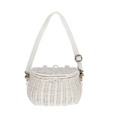 Straw Backpack / Bike bag - White | NEW
