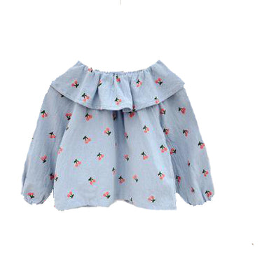 Cherry Blouse - Sky Blue | NEW