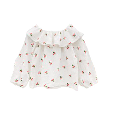 Cherry Blouse - White | NEW