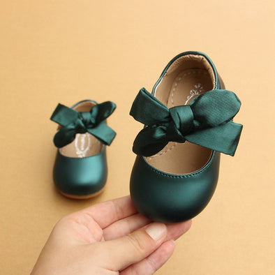 Babies Style Satin Shoes with bows