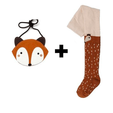 Raccoon / Fox Stockings + Bag - Brown