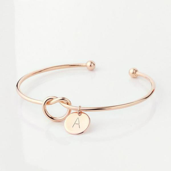 Initial bangle - Rose Gold