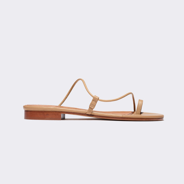 Susan Slide in Tan Nappa
