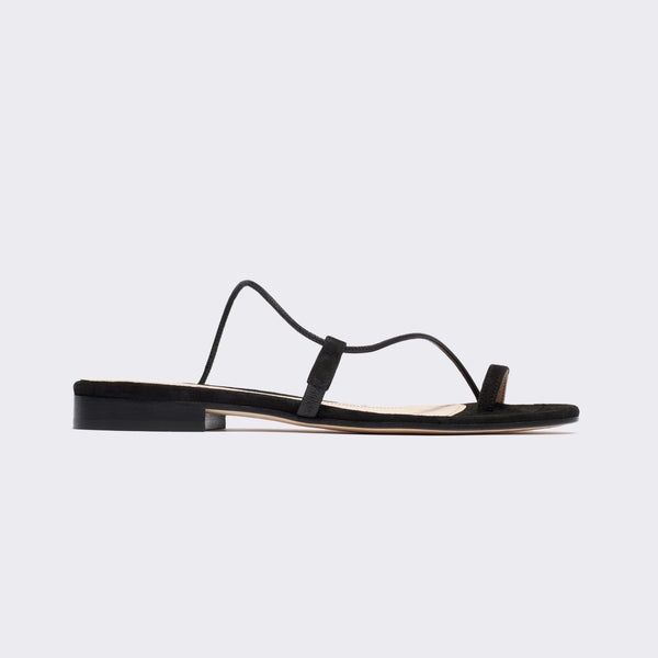 Susan Slide in Black Suede