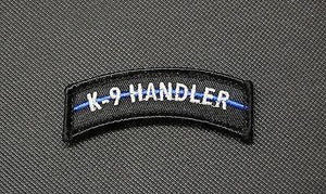 K9 HANDLER Thin Blue Line Tab Morale Patch