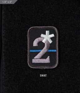 2 Assterisk Morale Patch - Thin Blue Line