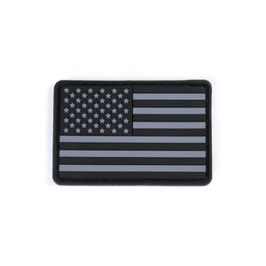 Modern Icon PVC US Flag Patch - Black