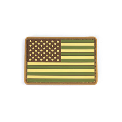 Modern Icon PVC US Flag Patch - OD Green