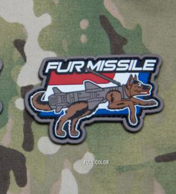 Fur Missle PVC Morale Patch - Multiple Options