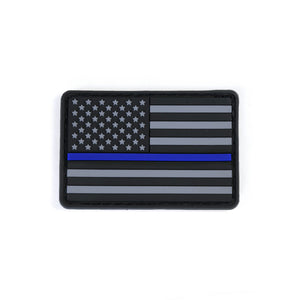 Modern Icon PVC US Flag Patch - Thin Blue Line
