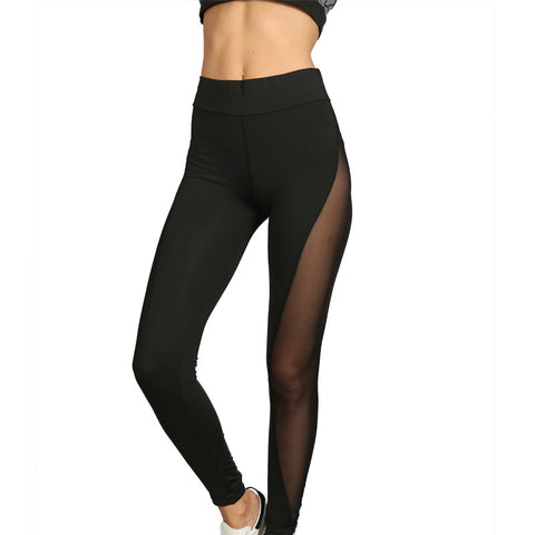 Mesh Breathe Women Translucent yoga fitness lounge pants