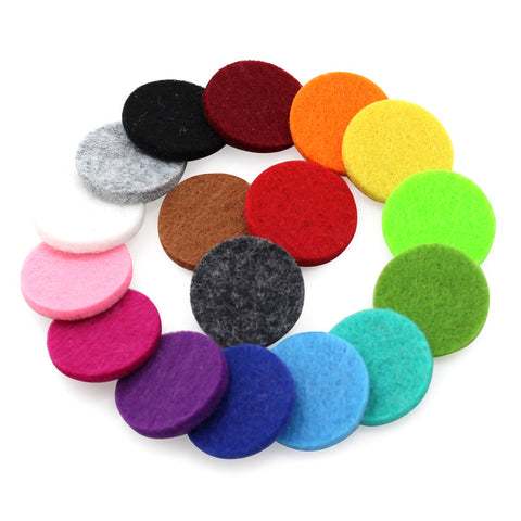 10pcs/lot Wholesale Jewelry Colorful 27mm Aromatherapy Felt Pads for 34mm Essential Oil Diffusing Perfume Locket Pendant
