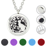 Stainless Steel Aromatherapy  Essential Oil Diffuser pendant Necklace