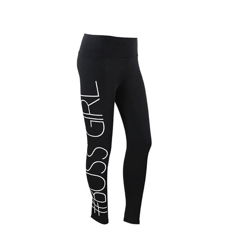 Athletic pant # Hash tag for Girl Boss Yoga Pants Women's Sexy Hips Fitness Yoga Legging Sport Leggings Running Stretch Sportswear Tights Gym Pant