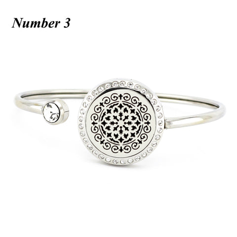 20mm 25mm essential oil diffuser locket bracelet 316l stainless steel aromatherapy bracelets bangles for women(free with 5pads)
