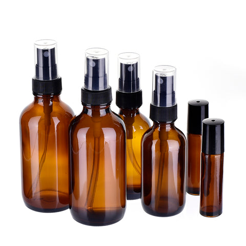 6pcs/set Portable Glass Aromatherapy Essential Oil Refillable Bottles Portable Travel Gift Cosmetic Container Makeup Tools