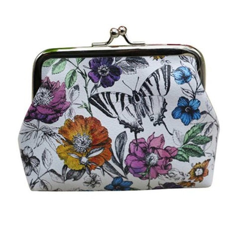 Floral And butterfly's  Coin Purses Wallet Ladies Small Wallet Card Holder Coin Purse Change essential oils holder or cosmetics