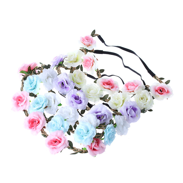 Bohemian Rose Flower Hair Band Kids