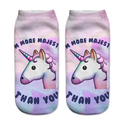 cartoon unicorn socks cheap