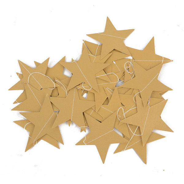 gold Paper Star Shape String Banner cheap