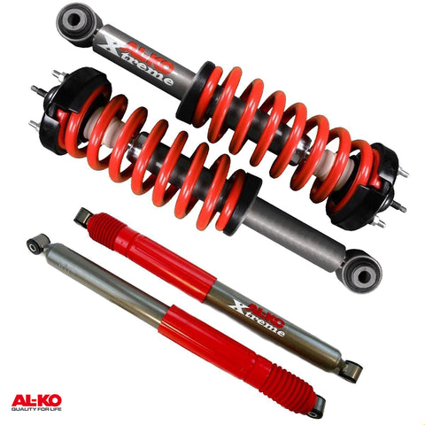 04-08 Ford F-150 4WD 2 Front Leveling ALKO Quik-Struts w/Red Springs + 2 Rear Shocks