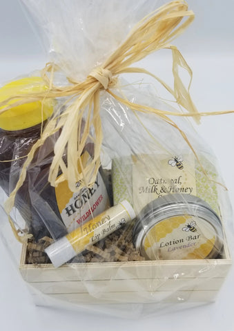 Honey gift basket, small
