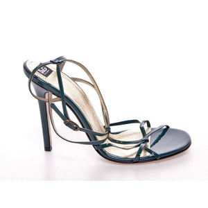 Dolce & Gabbana Green Leather Sandals Pumps Shoes | Dolce & Gabbana