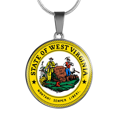 West Virginia Pendant Necklace Set | Handmade in USA By American Teen | Unique Gift And Souvenir