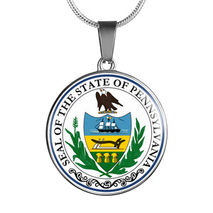 Pennsylvania Pendant Necklace Set | Handmade in USA By American Teen | Unique Gift And Souvenir