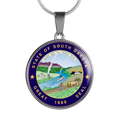 South Dakota Pendant Necklace Set | Handmade in USA By American Teen | Unique Gift And Souvenir
