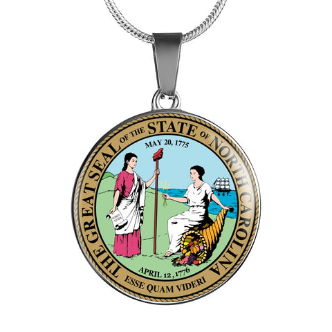 North Carolina Pendant Necklace Set | Handmade in USA By American Teen | Unique Gift And Souvenir