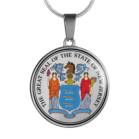 New Jersey Pendant Necklace Set | Handmade in USA By American Teen | Unique Gift And Souvenir