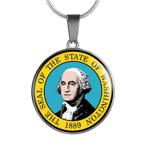 Washington Pendant Necklace Set | Handmade in USA | By American Teen | Unique Gift And Souvenir
