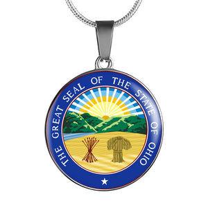 Ohio Pendant Necklace Set | Handmade in USA By American Teen | Unique Gift And Souvenir