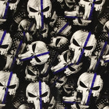 POLICE Thin Blue Line American Tactical Skulls