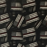 Fire Fighter Red Line American Tactical Flags
