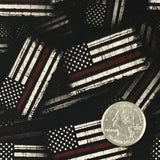 Fire Fighter Red Line American Tactical Flags - Exclusive