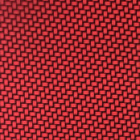 Candied Red Carbon Weave