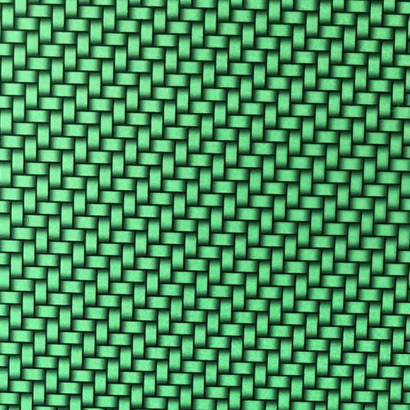 Candied Green Carbon Weave