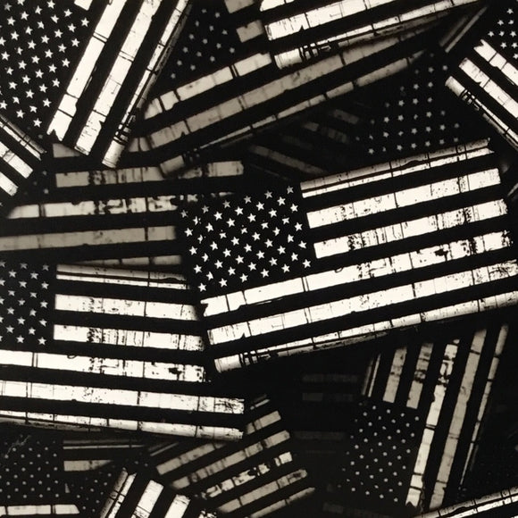 Black/Transparent American Tactical Garrison Flags USA